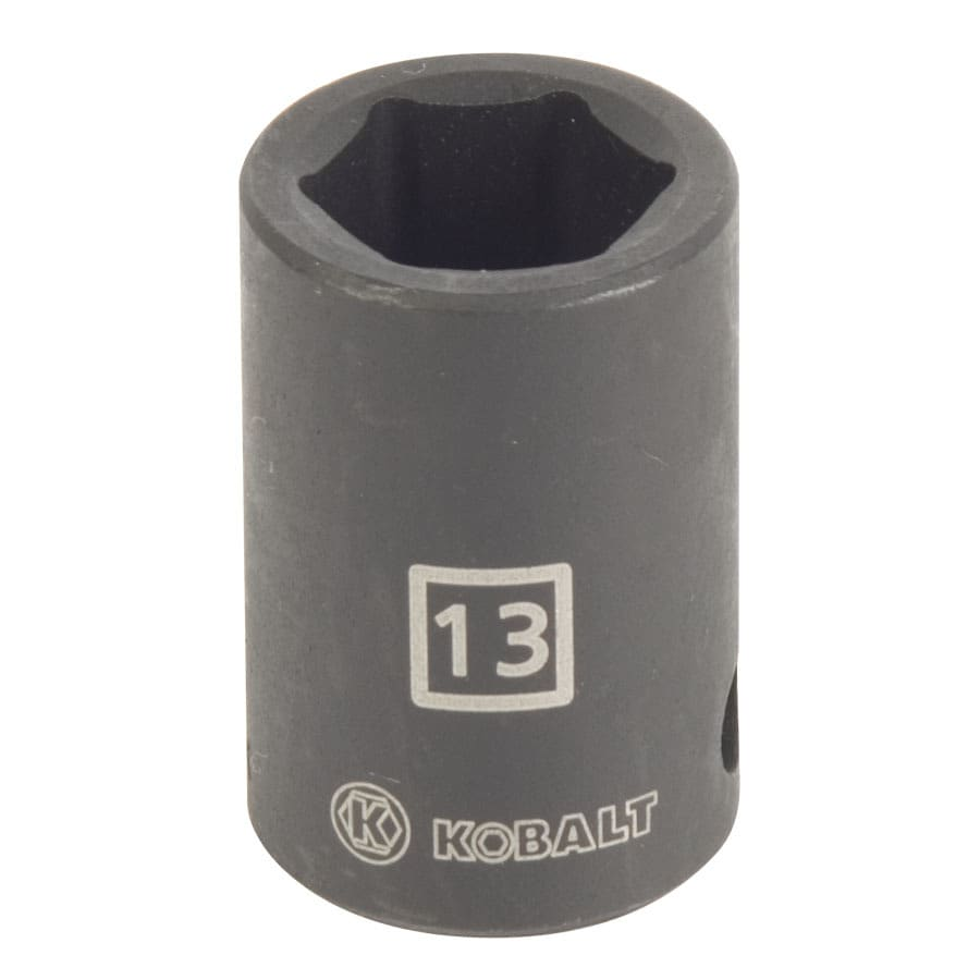 Kobalt 3/8-in Drive 13mm Shallow 6-Point Metric Impact Socket