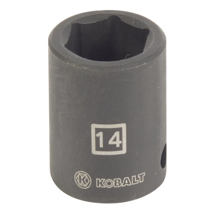Kobalt 3/8-in Drive 14mm Shallow 6-Point Metric Impact Socket