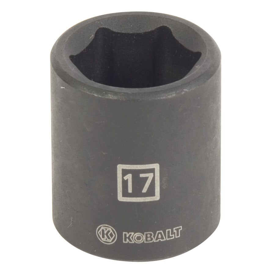 Kobalt 3/8-in Drive 17mm Shallow 6-Point Metric Impact Socket