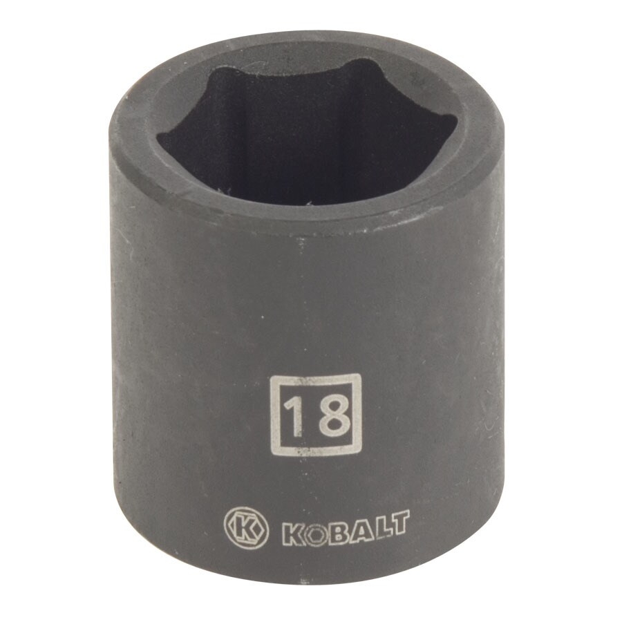 Kobalt 3/8-in Drive 18mm Shallow 6-Point Metric Impact Socket