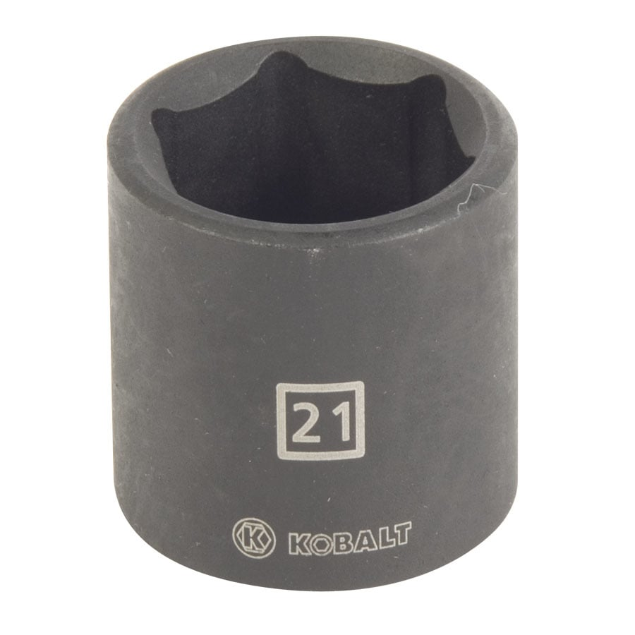 Shop kobalt 3 8 in drive 21mm shallow 6 point metric impact socket at