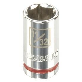 Kobalt Standard (SAE) 1/4-in Drive 6-point 11/32-in Shallow Socket
