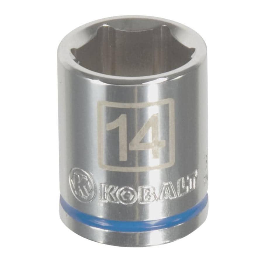 Kobalt 1/4-in Drive 14mm Shallow 6-Point Metric Socket