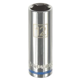 Kobalt Metric 1/4-in Drive 6-point 12mm Deep Socket