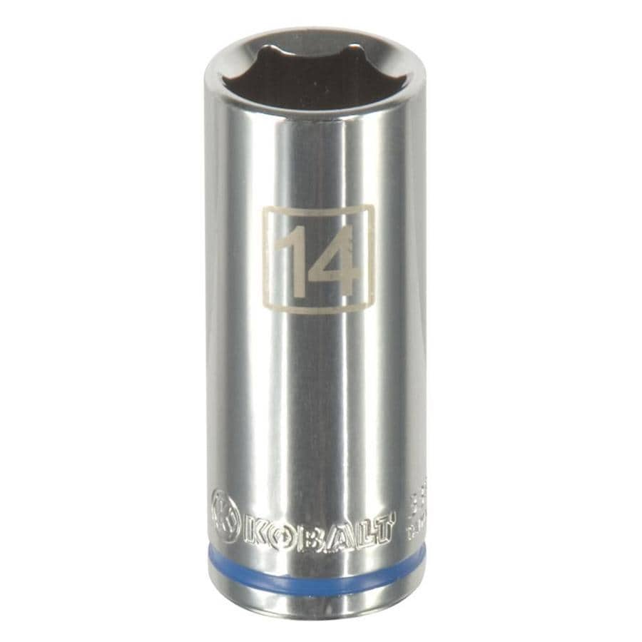 Kobalt 1/4-in Drive 14mm Deep 6-Point Metric Socket