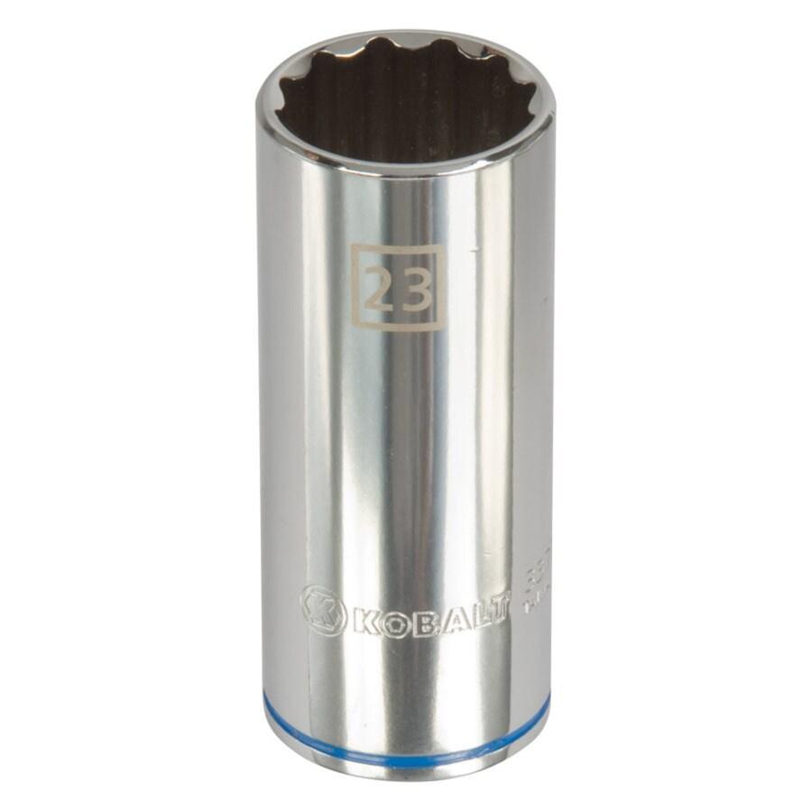 Kobalt 1/2-in Drive 23mm Deep 12-Point Metric Socket