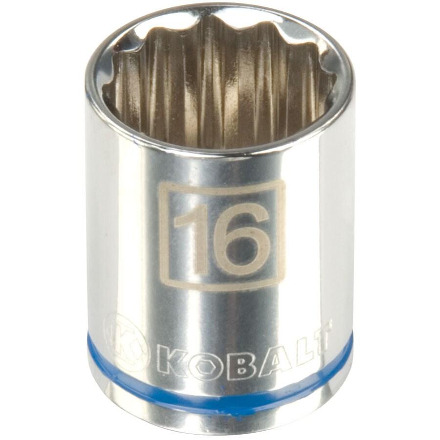 Kobalt 3/8-in Drive 16mm Shallow 12-Point Metric Socket