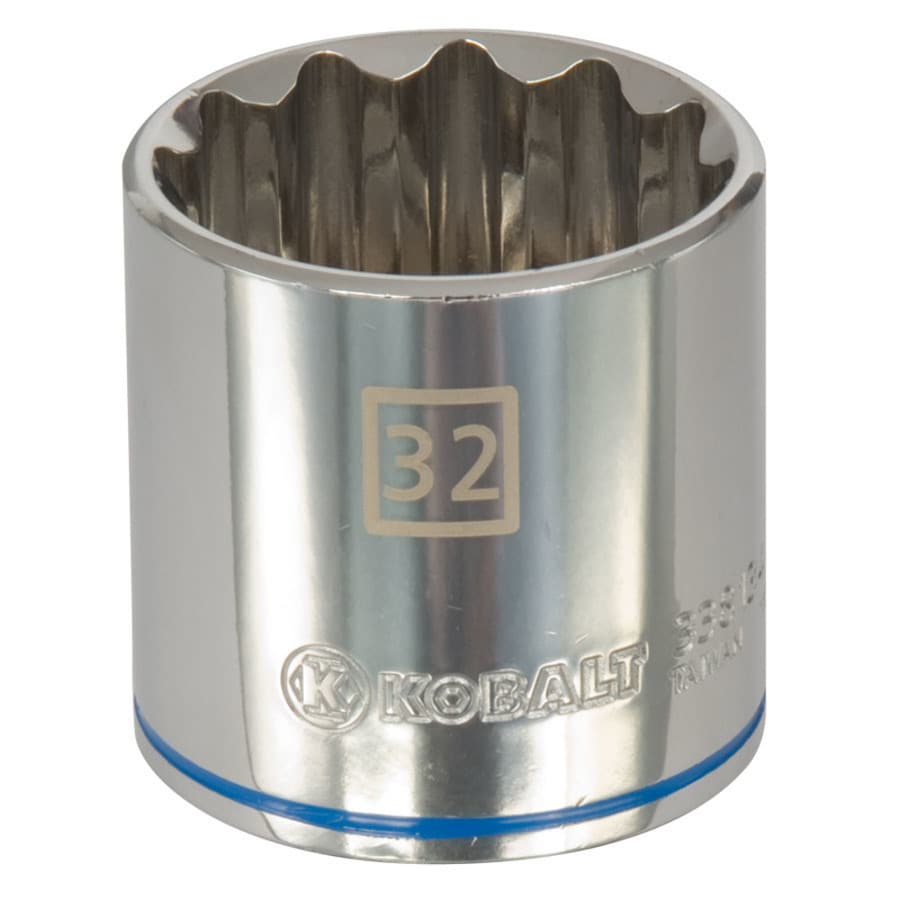 Kobalt 1/2-in Drive 32mm Shallow 12-Point Metric Socket