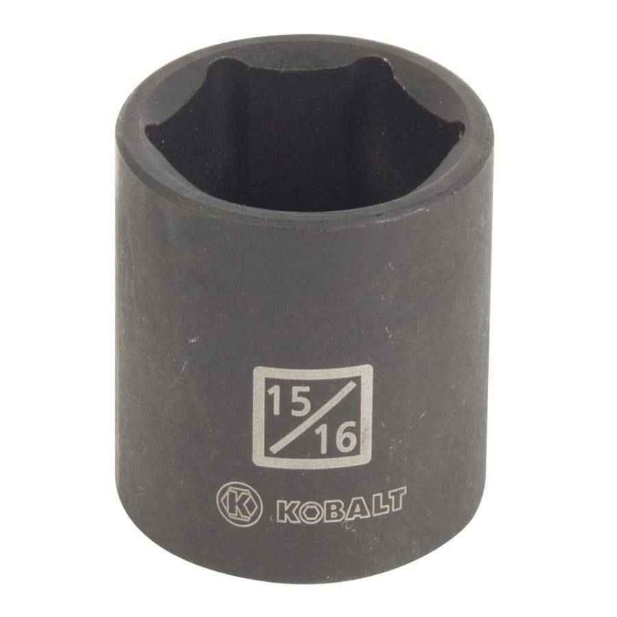 Kobalt 1/2-in Drive 15/16-in Shallow Standard (SAE) Impact Socket