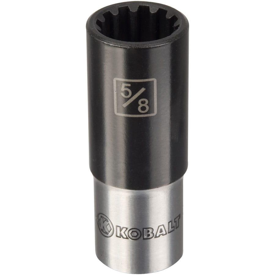 Kobalt 3/8-in Drive 5/8-in Deep Spline Standard (SAE) Socket