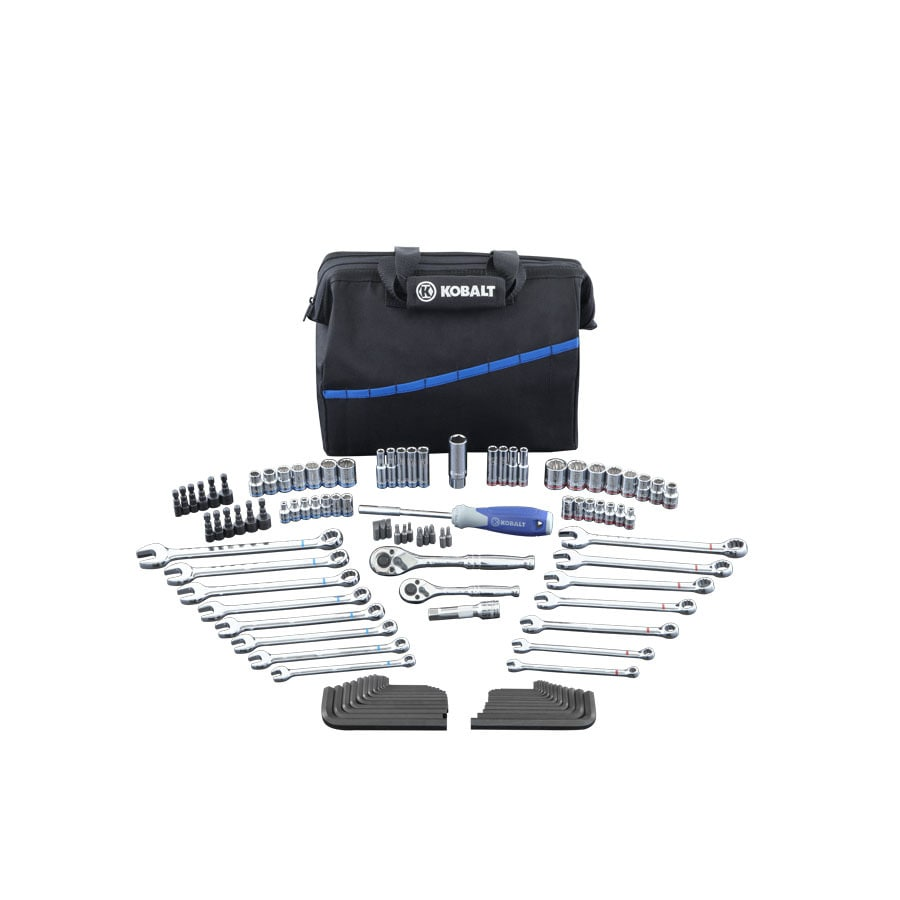 Kobalt 110-Piece Standard (SAE) and Metric Mechanic's Tool Set with Soft Case