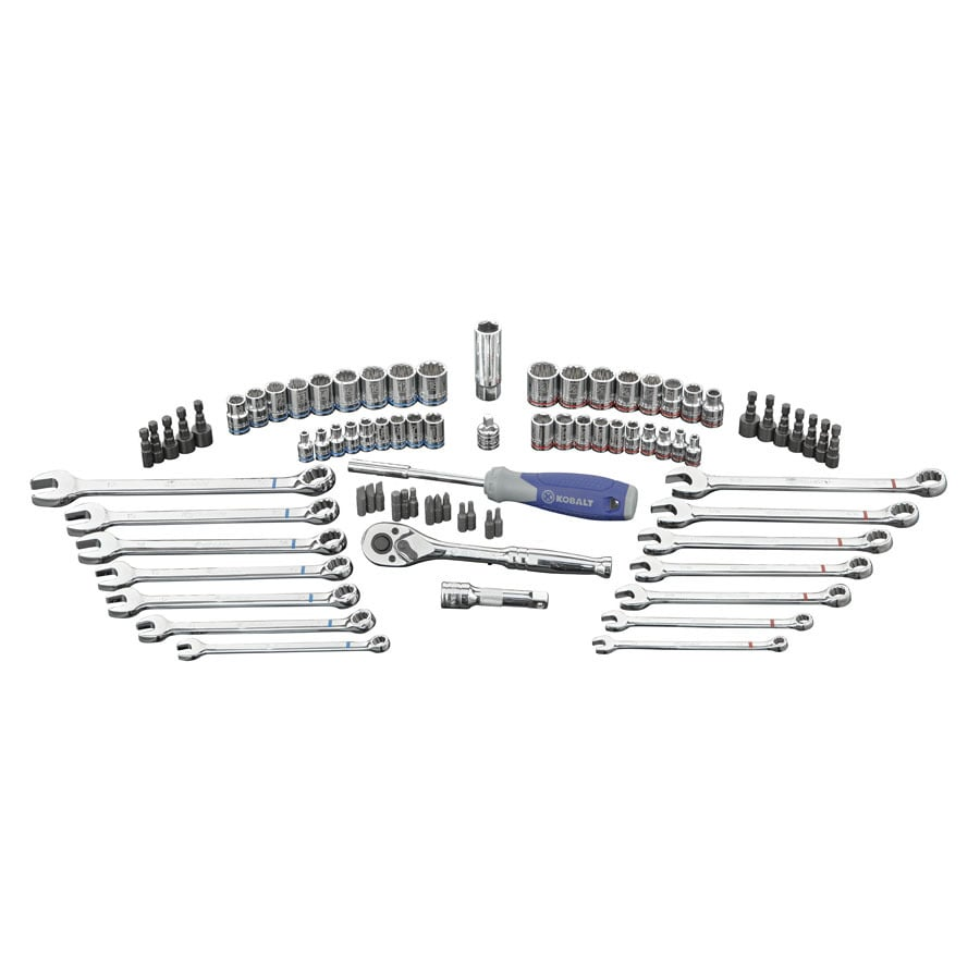 Kobalt Standard (SAE) and Metric Mechanic's Tool Set (80-Piece)