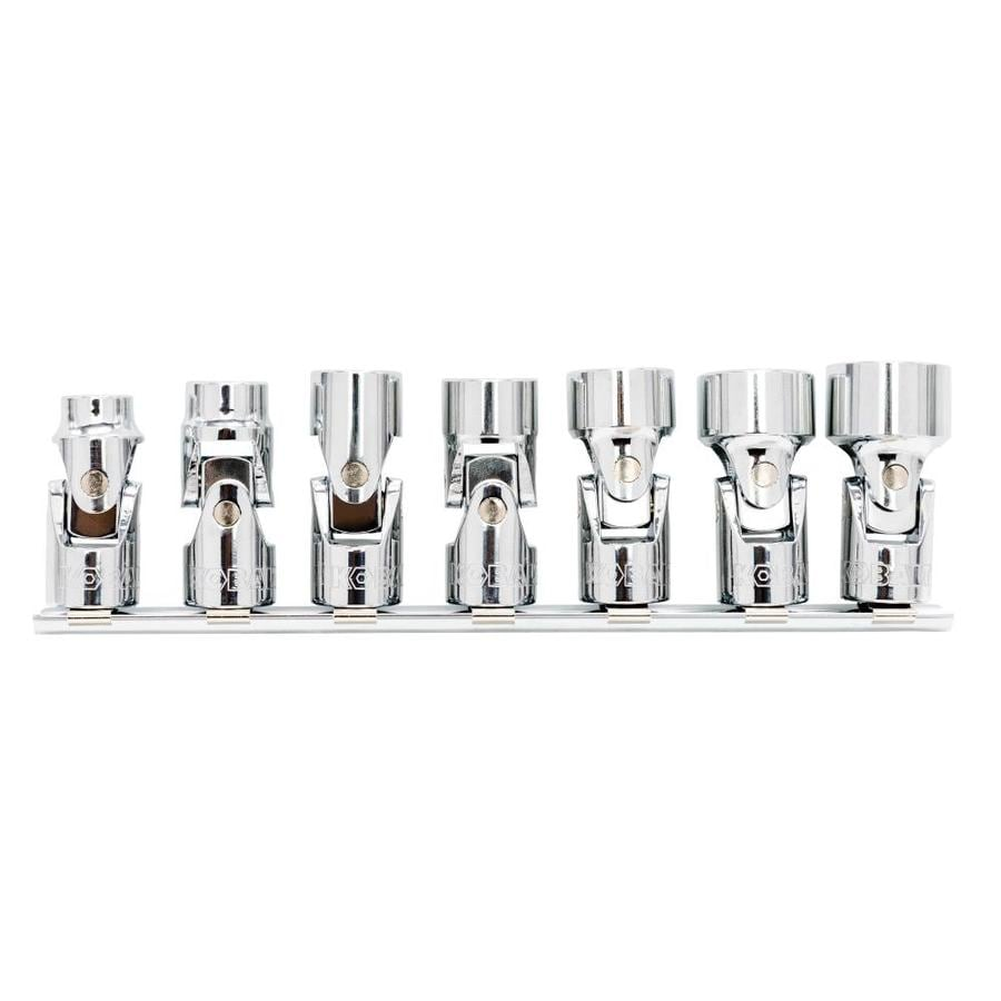 Kobalt Flex-Socket 7-Piece Standard (SAE) 3/8-in Drive 12-Point Socket Set