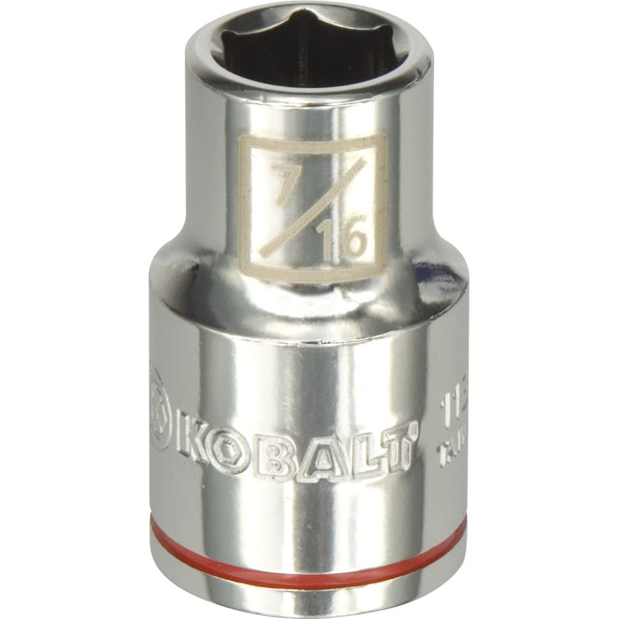 Kobalt 1/2-in Drive 7/16-in Shallow 6-Point Standard (SAE) Socket