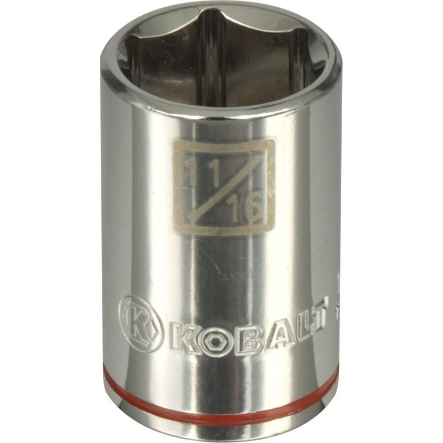 Kobalt 1/2-in Drive 11/16-in Shallow 6-Point Standard (SAE) Socket