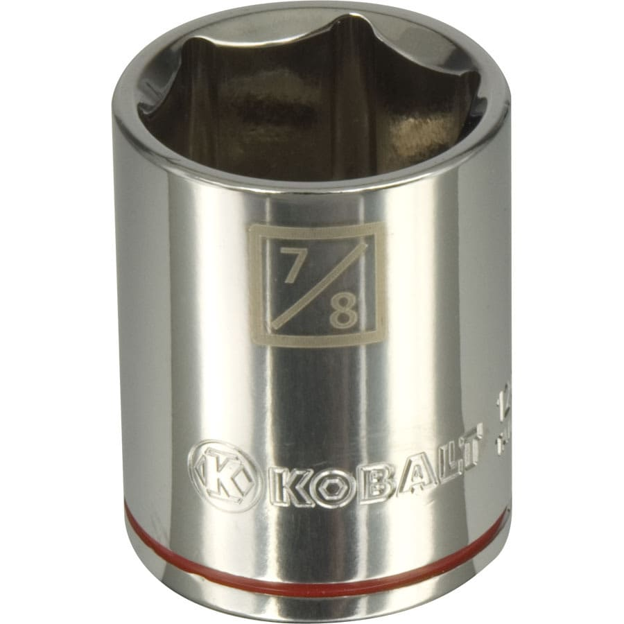 Kobalt 1/2-in Drive 7/8-in Shallow 6-point Standard (SAE) Socket