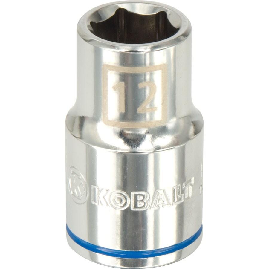 Kobalt 1/2-in Drive 12mm Shallow 6-Point Metric Socket