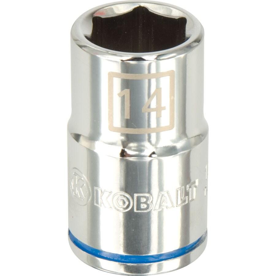 Kobalt 1/2-in Drive 14mm Shallow 6-Point Metric Socket