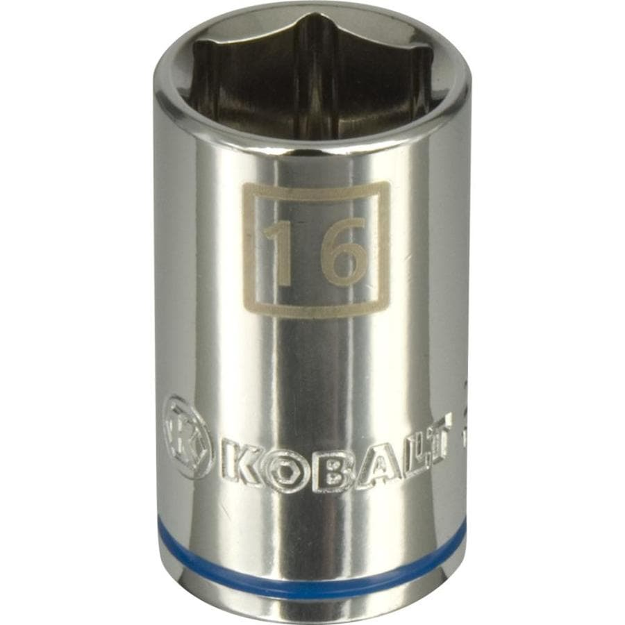 Kobalt 1/2-in Drive 16mm Shallow 6-Point Metric Socket