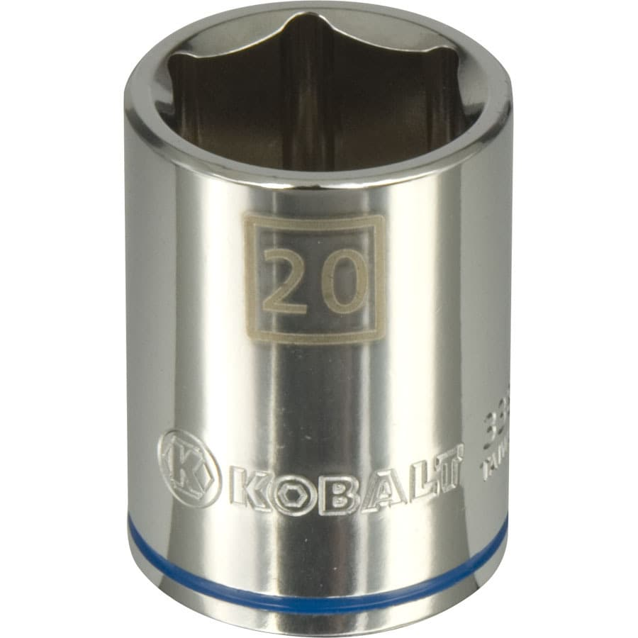 Kobalt 1/2-in Drive 20mm Shallow 6-Point Metric Socket