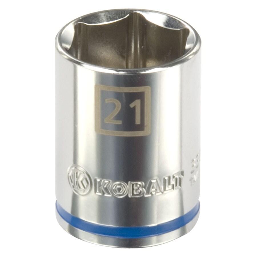 Kobalt 1/2-in Drive 21mm Shallow 6-Point Metric Socket