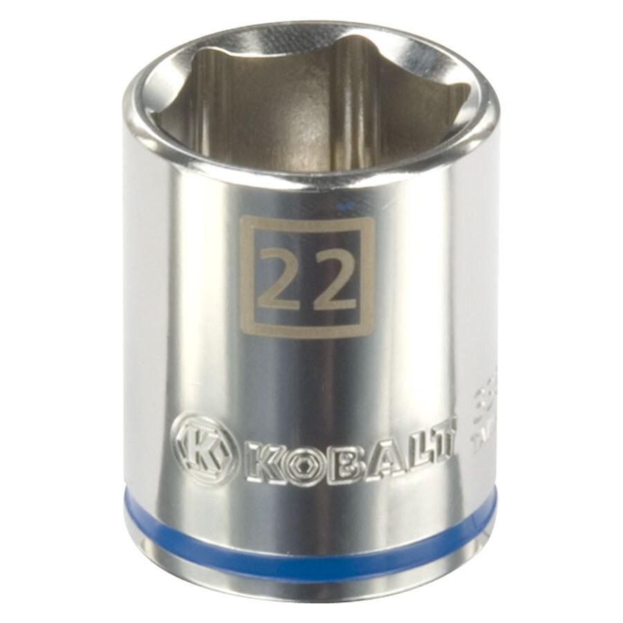 Kobalt 1/2-in Drive 22mm Shallow 6-Point Metric Socket