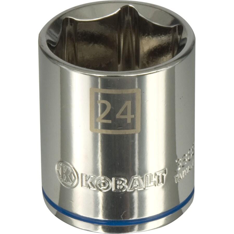 Kobalt 1/2-in Drive 24mm Shallow 6-Point Metric Socket