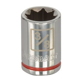 Kobalt Standard (SAE) 1/4-in Drive 8-point 3/8-in Shallow Socket