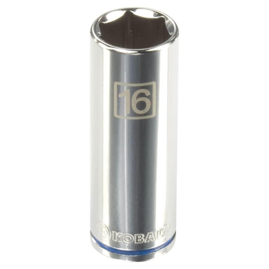 Kobalt 3/8-in Drive 16mm Deep 6-Point Metric Socket