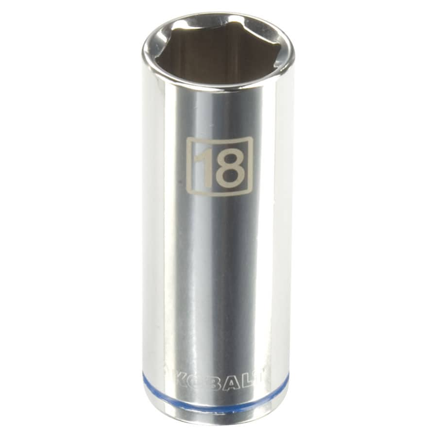Kobalt 3/8-in Drive 18mm Deep 6-Point Metric Socket