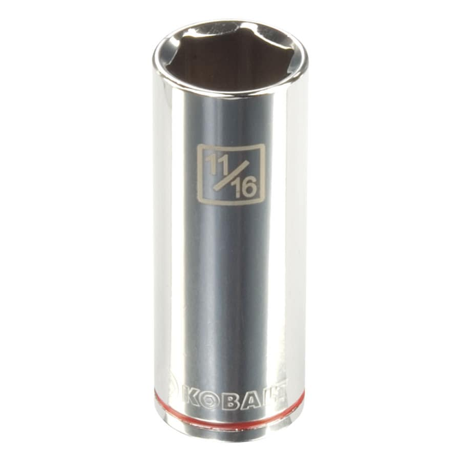 Kobalt 3/8-in Drive 11/16-in Deep 6-Point Standard (SAE) Socket