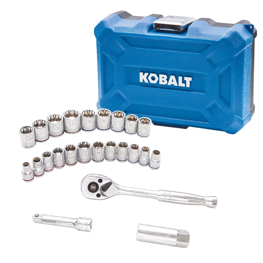 Kobalt 24-Piece Standard (SAE) and Metric Mechanic's Tool Set with Hard Case