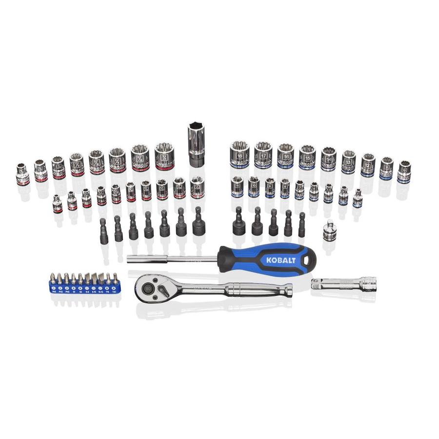 Kobalt 63-Piece Standard (SAE) and Metric Mechanic's Tool Set with Hard Case