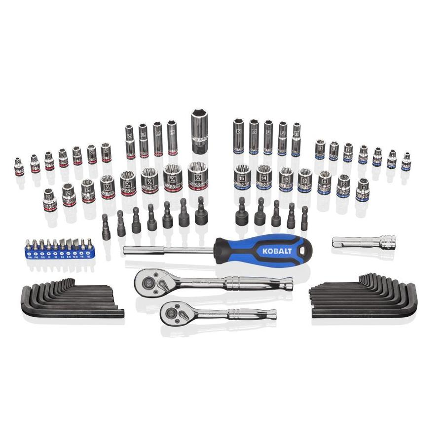 Kobalt 93-Piece Standard (SAE) and Metric Mechanic's Tool Set with Hard Case