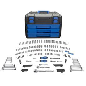 Kobalt 227-Piece Standard (Sae) and Metric Mechanic's Tool Set