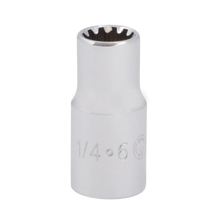Kobalt 1/4-in Drive 1/4-in Shallow Spline Standard (SAE) Socket