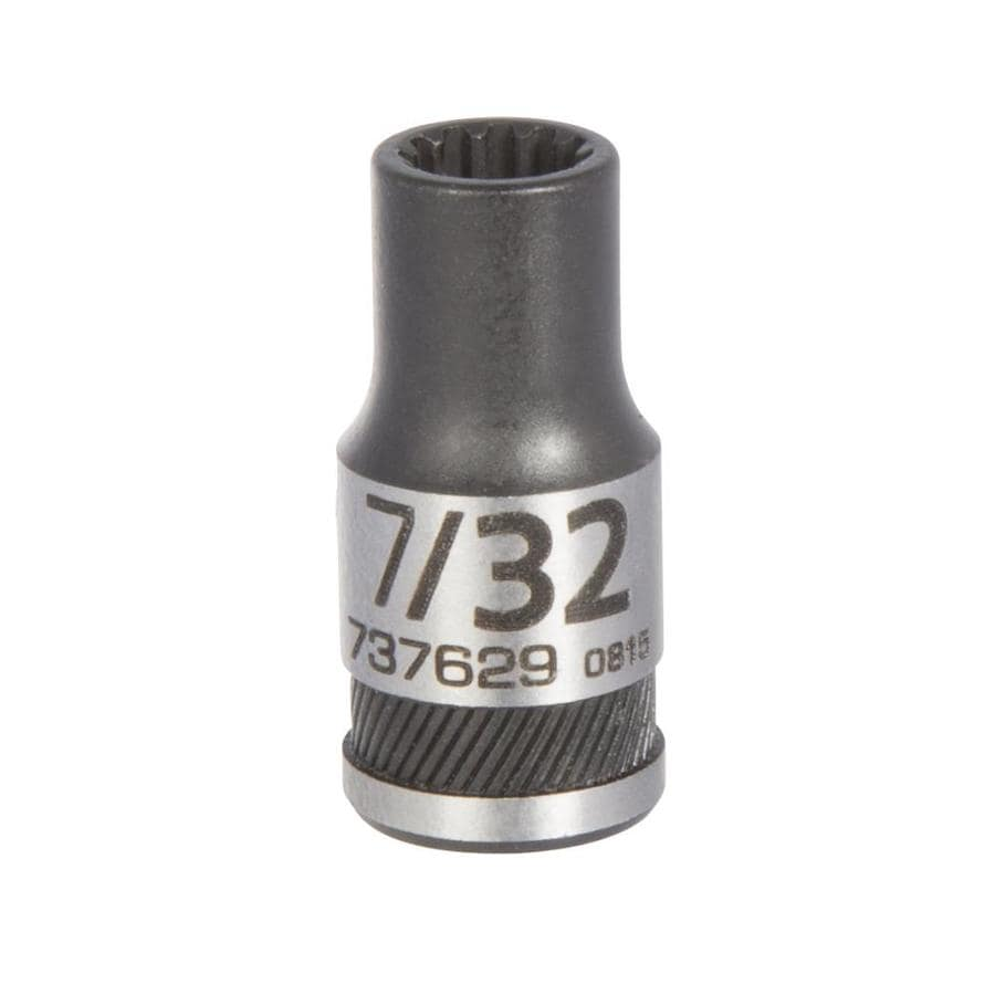 Kobalt 1/4-in Drive 7/32-in Shallow 12-Point Standard (SAE) Socket