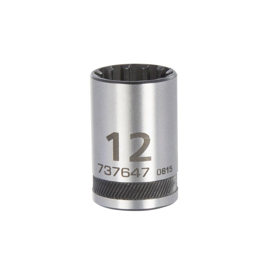 Kobalt Universal 1/4-in Drive 12mm Shallow Spline Metric Socket