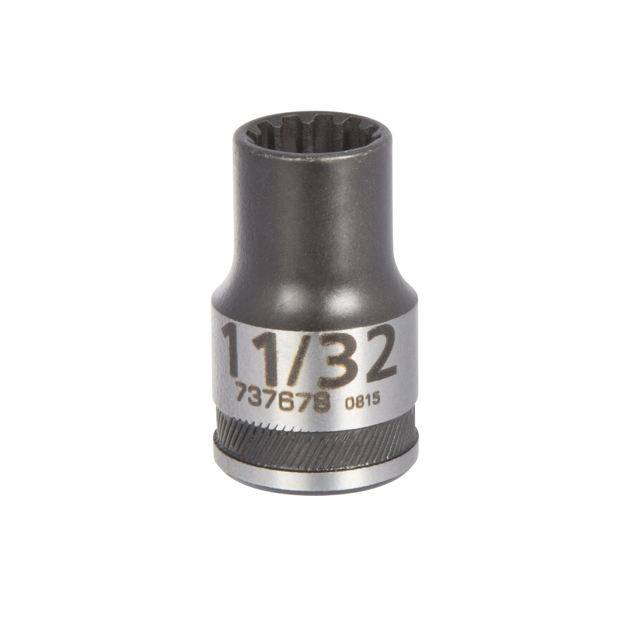 Kobalt 3/8-in Drive 11/32-in Shallow 12-Point Standard (SAE) Socket