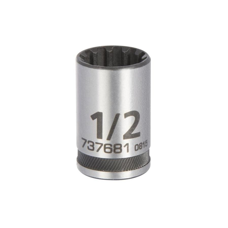Kobalt Universal 3/8-in Drive 1/2-in Shallow 12-point Standard (SAE) Socket
