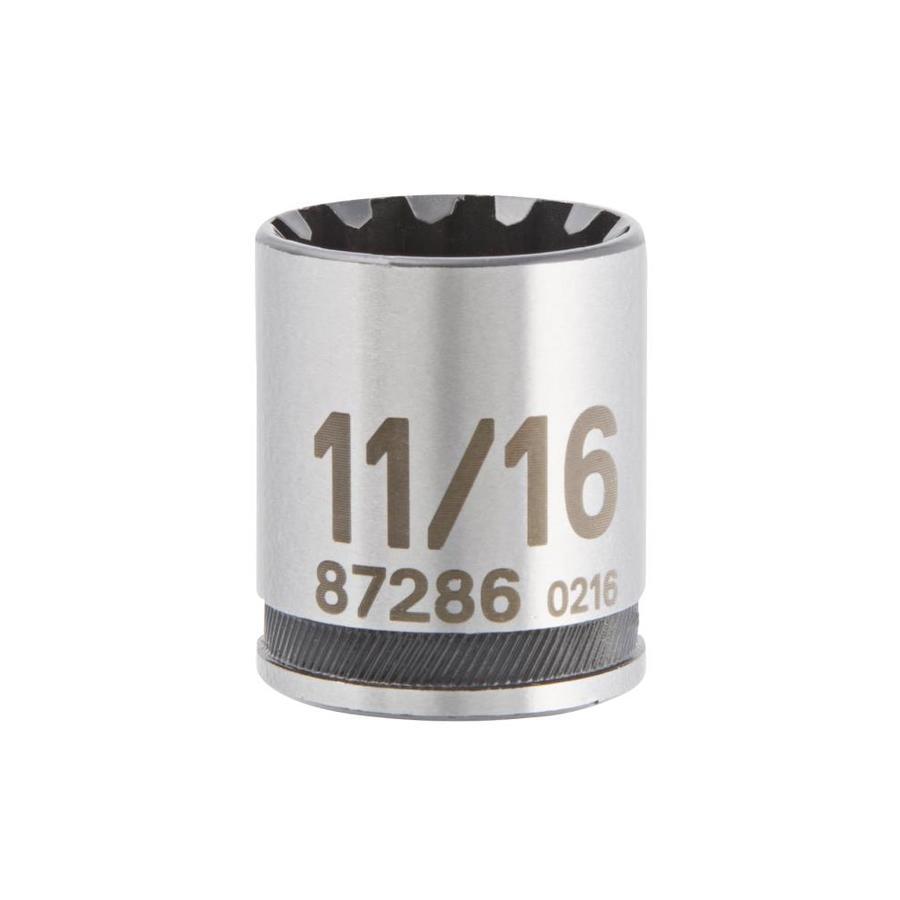 Kobalt Universal 3/8-in Drive 11/16-in Shallow Spline Standard (SAE) Socket