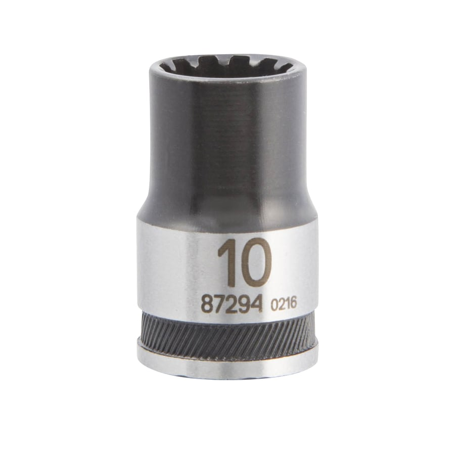 Kobalt Universal 3/8-in Drive 10mm Shallow Spline Metric Socket