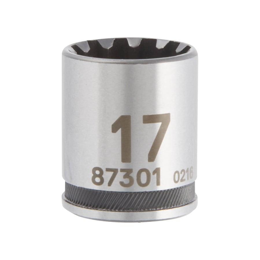 Kobalt 3/8-in Drive 17mm Shallow Spline Metric Socket
