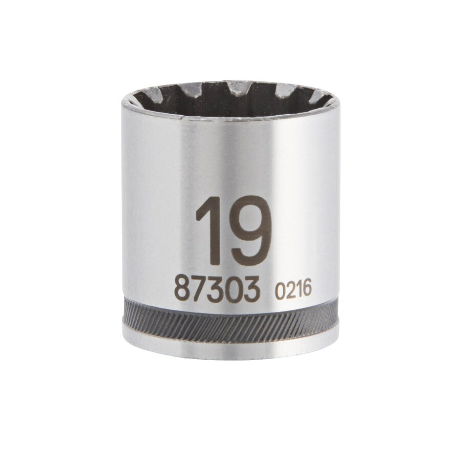 Kobalt 3/8-in Drive 19mm Shallow Spline Metric Socket