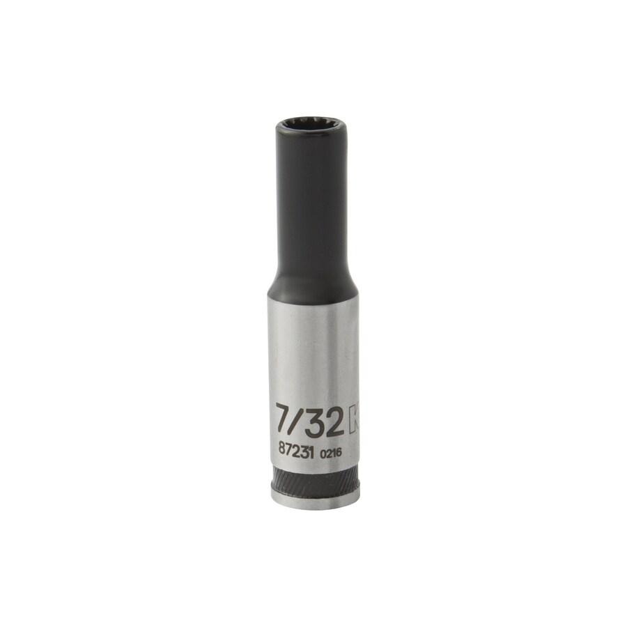 Kobalt Universal 1/4-in Drive 7/32-in Deep Spline Standard (SAE) Socket