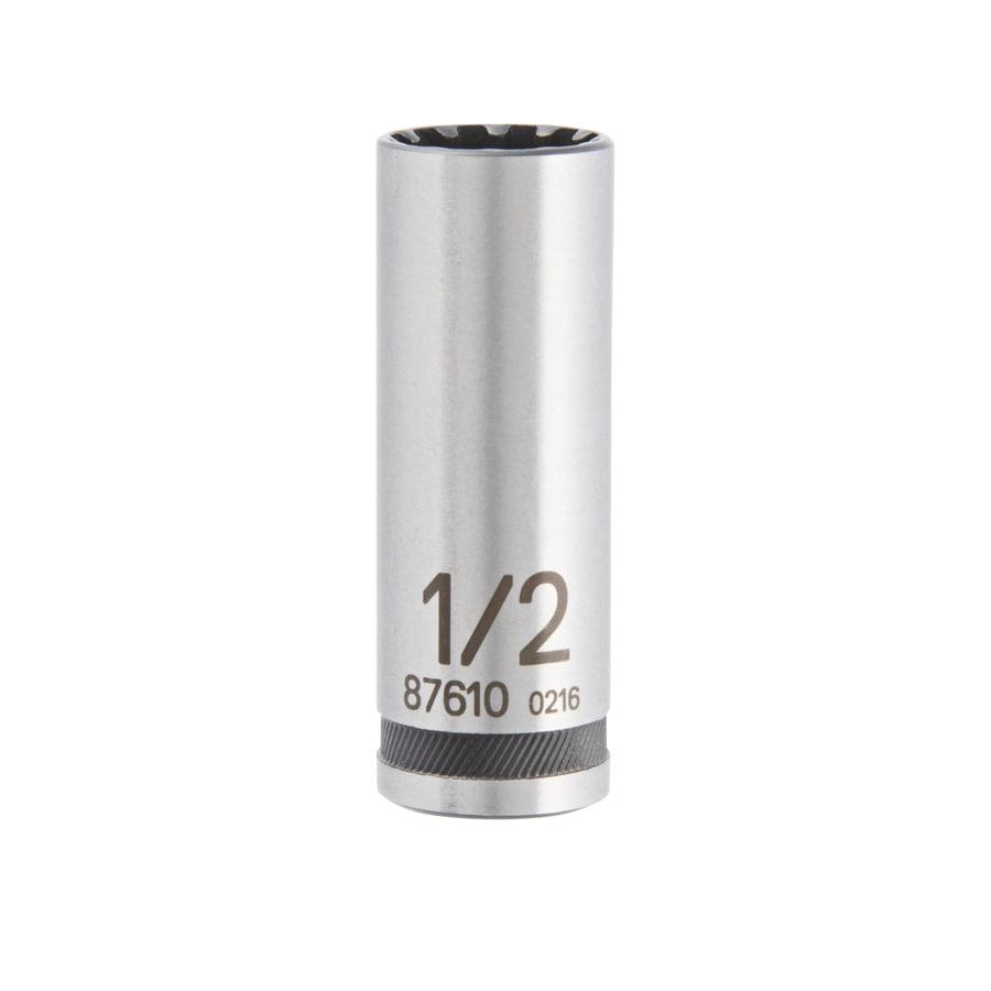 Kobalt 1/4-in Drive 1/2-in Deep Spline Standard (SAE) Socket