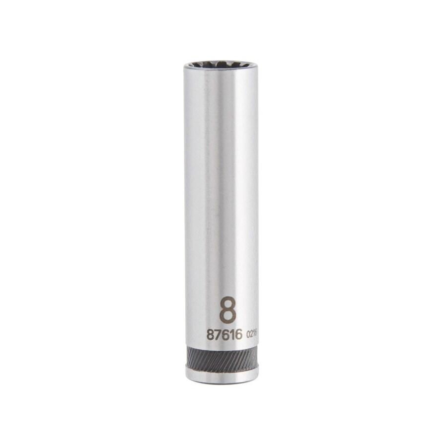 Kobalt 1/4-in Drive 8mm Deep Spline Metric Socket