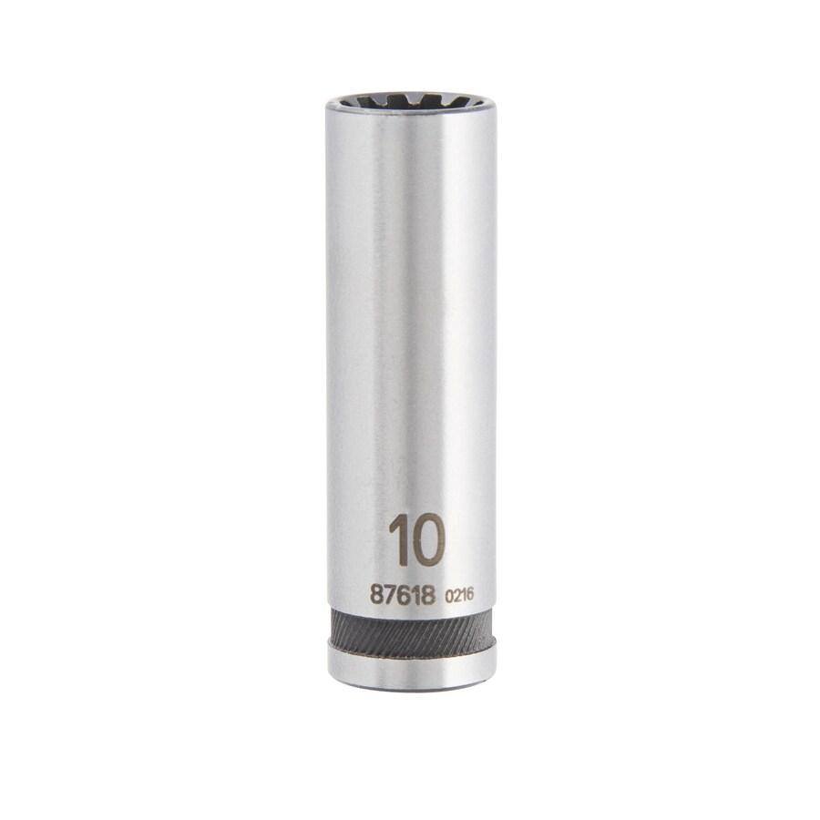 Kobalt 1/4-in Drive 10mm Deep Spline Metric Socket
