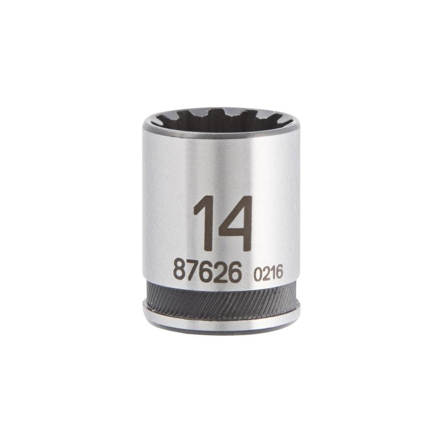 Kobalt Universal 1/4-in Drive 14mm Shallow Spline Metric Socket