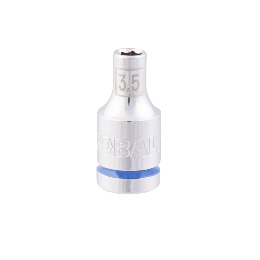 Kobalt 1/4-in Drive 3.5mm Shallow 6-Point Metric Socket